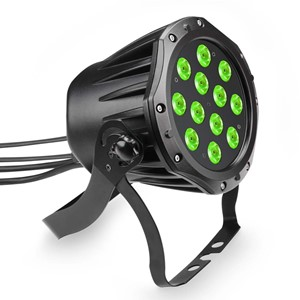 Cameo 12 x 3 W TRI Colour LED Outdoor PAR Can RGB in Black